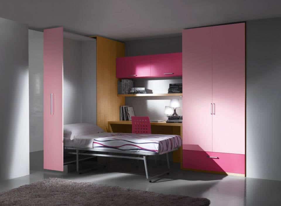 Letto a scomparsa modello piroetta estraibile armadio con letto singolo verticale a ribalta - Letto a parete a scomparsa ...