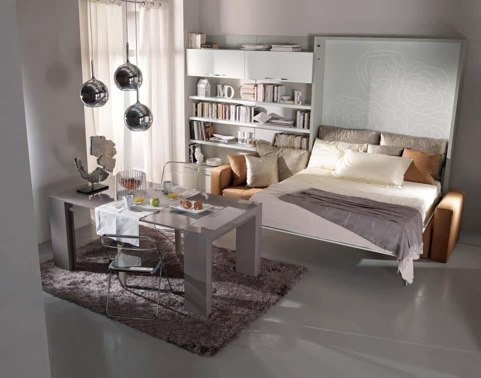 Letto estraibile con divano diamante in offerta a prezzi for Letto a scomparsa con divano