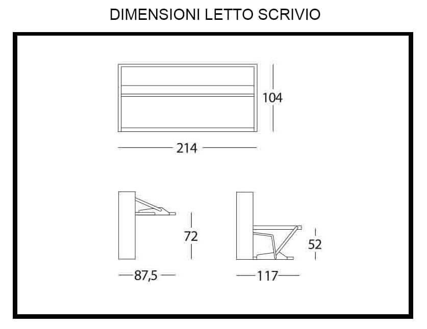 Misure scrivania scrivania per computer helios superficie for Misure scrivania