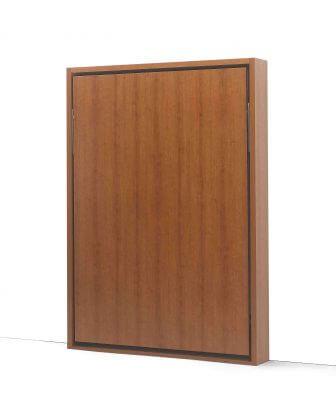 letto a ribalta modello Door versione verticale foto immagine finitura classica ciliegio letto chiuso