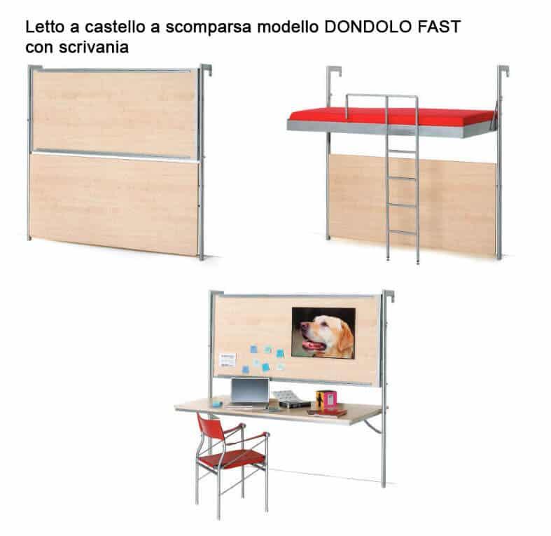 Letto Con Scrivania A Scomparsa ~ Il meglio del design ...