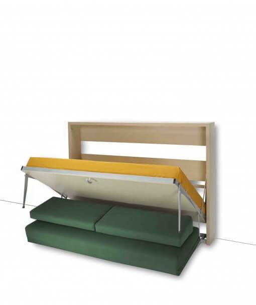 Letto a scomparsa con divano davanti modello holo movimento orizzontale trasformabile letti a - Letto a scomparsa con divano ...