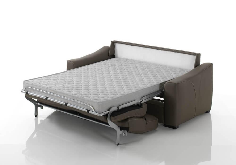 Divano letto modello nube divani letto con materasso h18 - Divano letto aperto ...