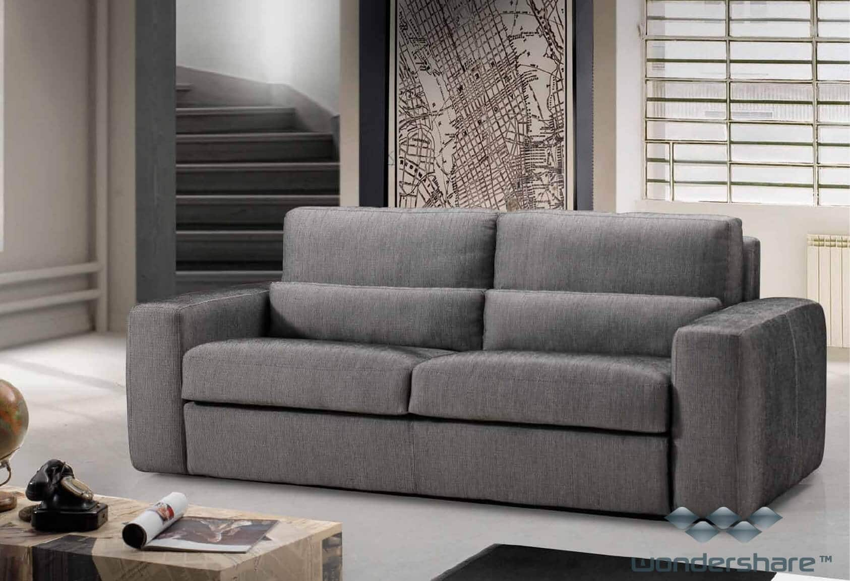 Divano letto modello shara arredamento zona giorno divani e poltrone divani letto for Divani e divani divani letto