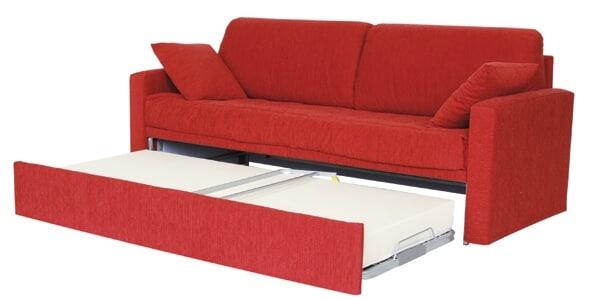 Letto con secondo letto o contenitore modello campi divani for Divano con letto estraibile