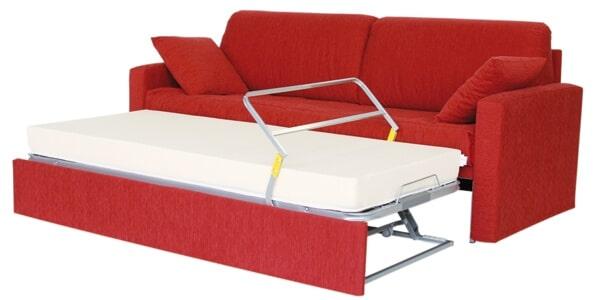 Letto con secondo letto o contenitore modello campi divani letto con materasso alto arredamento - Letto con secondo letto estraibile ...
