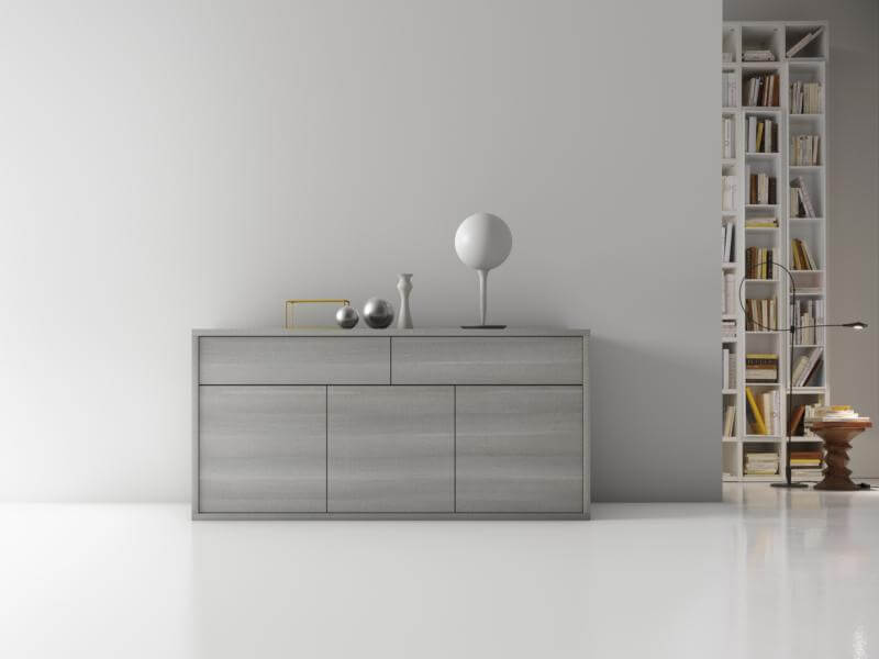 Tavolo allungabile modello bluma a cassetto estraibile a for Mobile tavolo