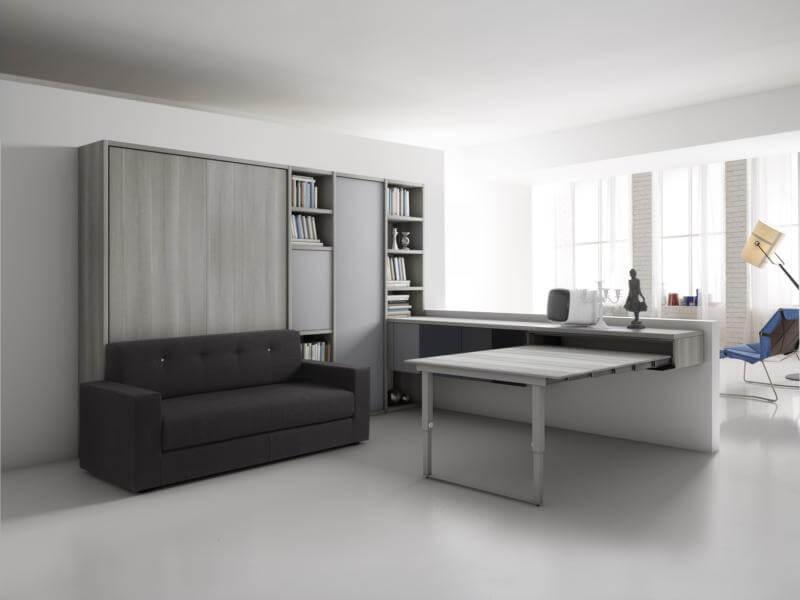 Letto a scomparsa con divano modello full in offerta scontato in milano - Soggiorno con letto a scomparsa ...
