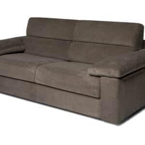 divano letto materasso h 18 trasformabile convertibile tessuto belfast grigio foto letto chiuso vista laterale