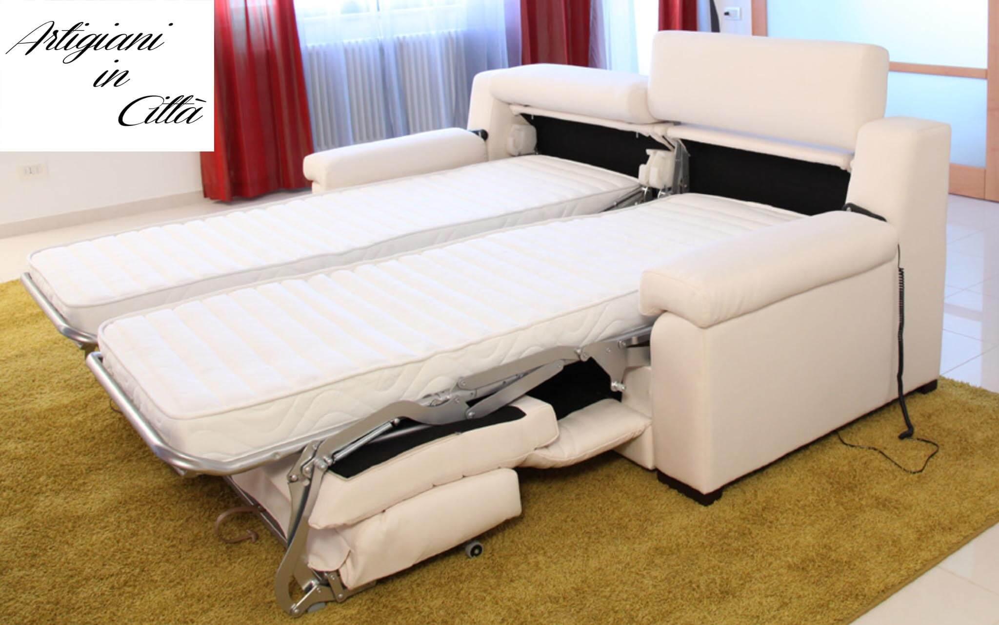 Divano letto gemellare doppio relax motorizzato scontato - Divano letto con due letti singoli ...