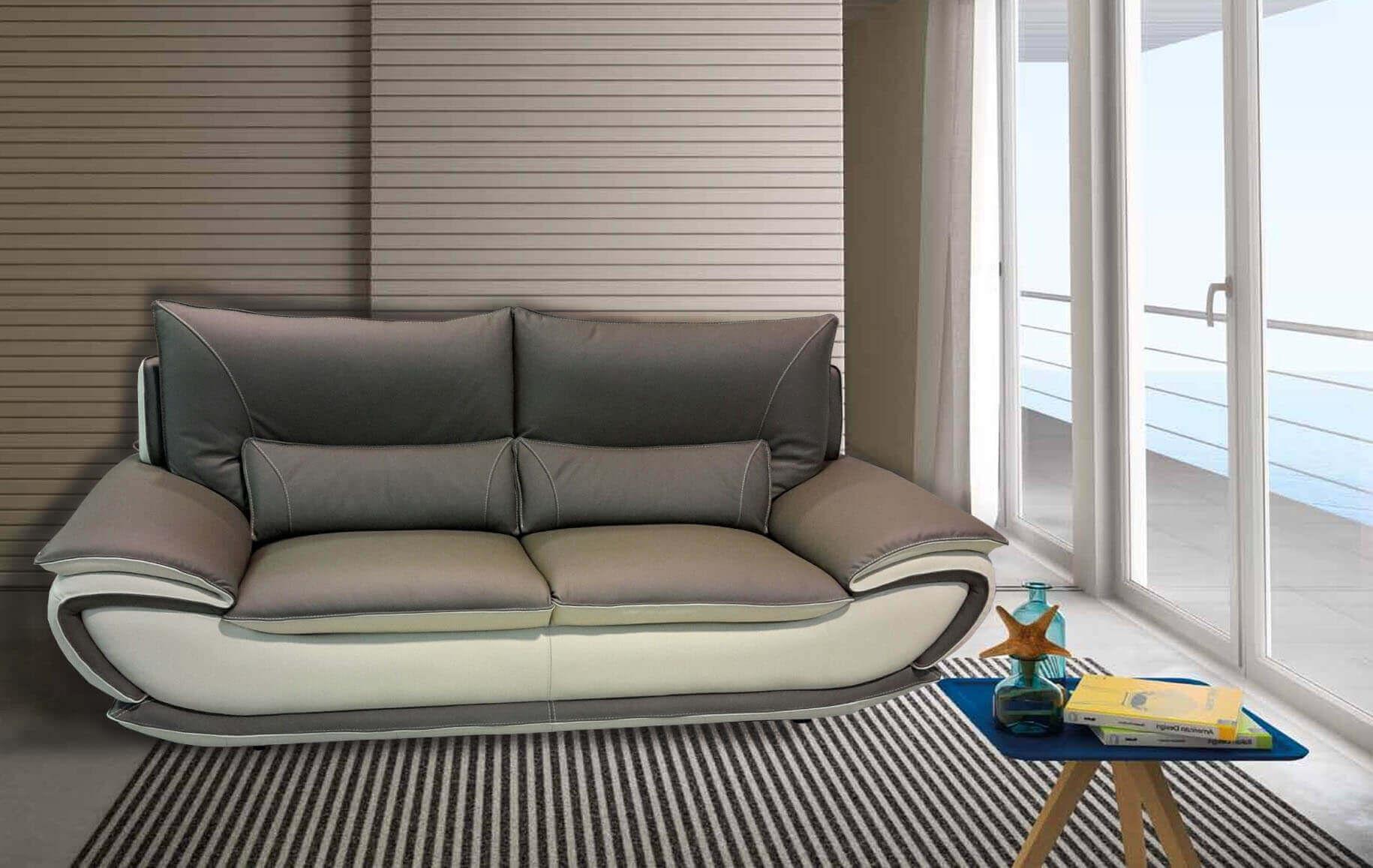 Divano due colori divani letto chateau d ax foto design - Divani letto in pelle offerte ...