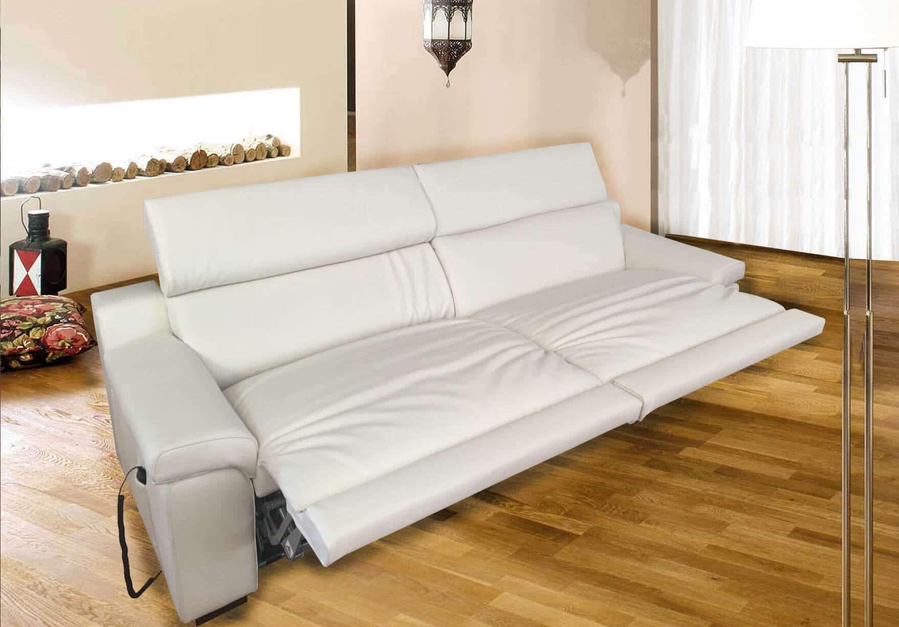 Divano letto gemellare doppio relax motorizzato scontato for Misure letti singoli