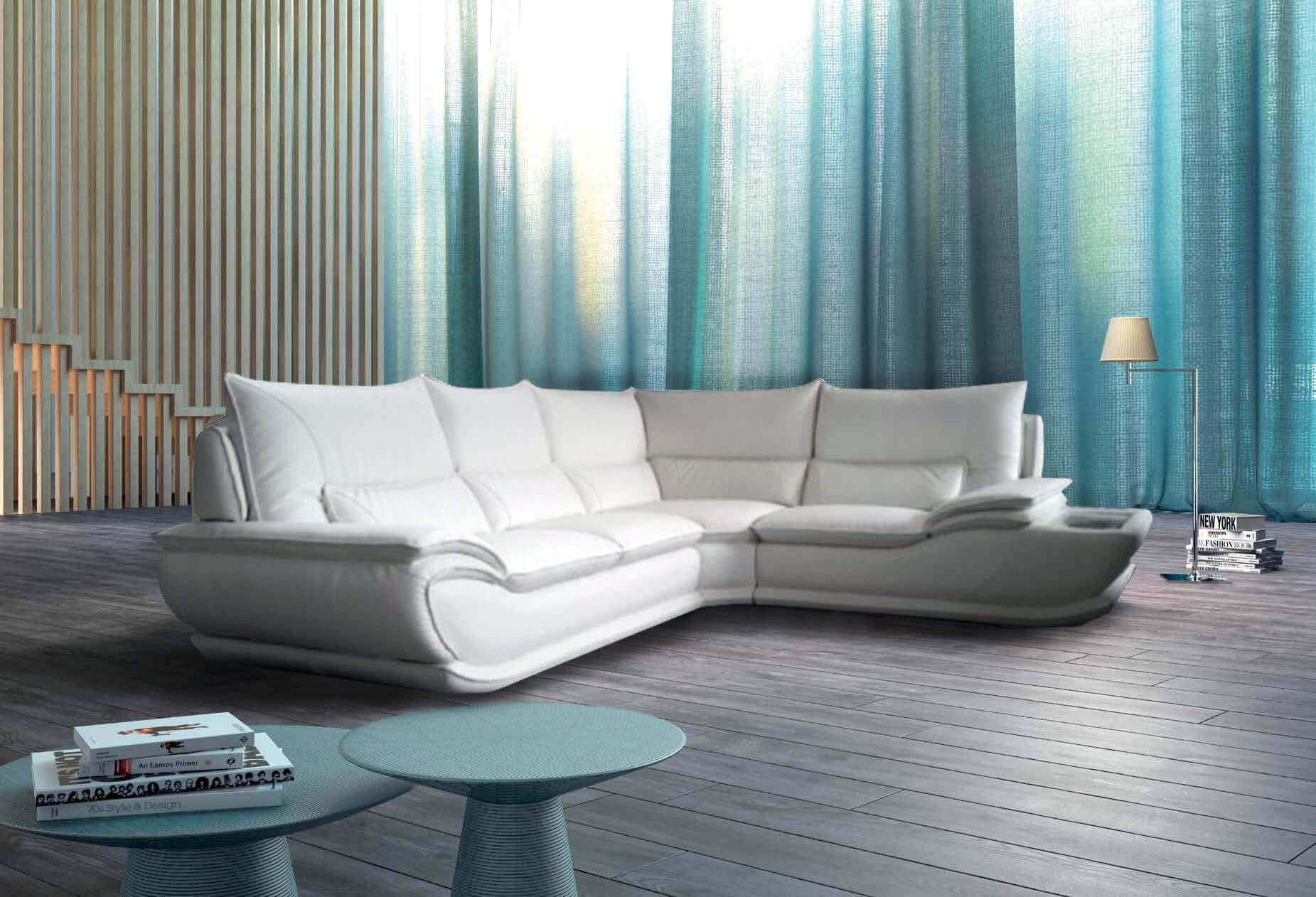 Divano modello elisabetta offerte divani fissi e divani - Divano pelle bianco ...