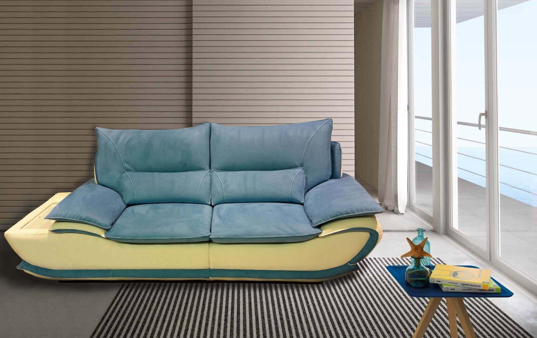Divano modello elisabetta offerte divani fissi e divani - Divano letto azzurro ...