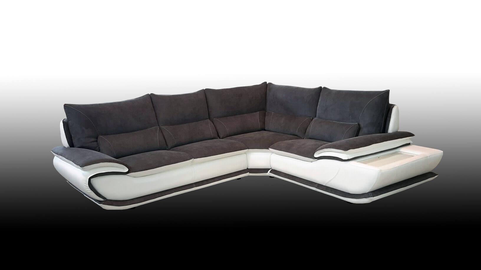 Divano modello elisabetta offerte divani fissi e divani - Divano bianco e grigio ...