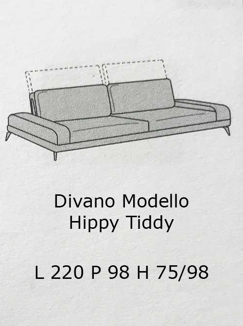 Divano modello hippy tiddy arredamento zona giorno divani for Divano quattro posti
