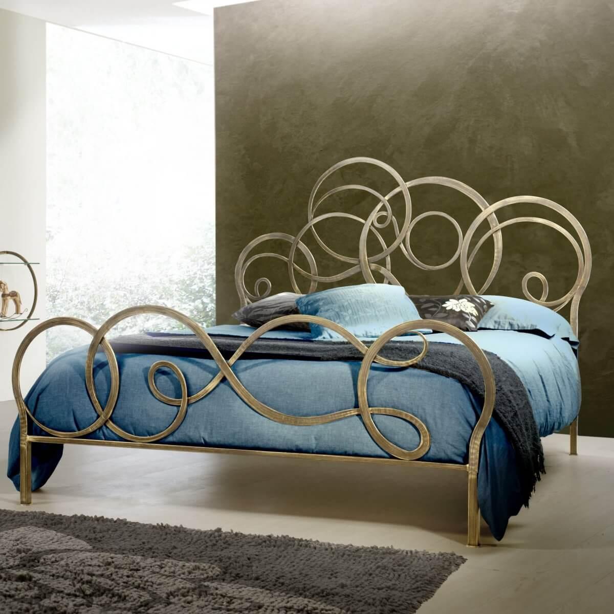 Letto in ferro battuto modello celeste arredamento zona - Testata letto ferro battuto ...