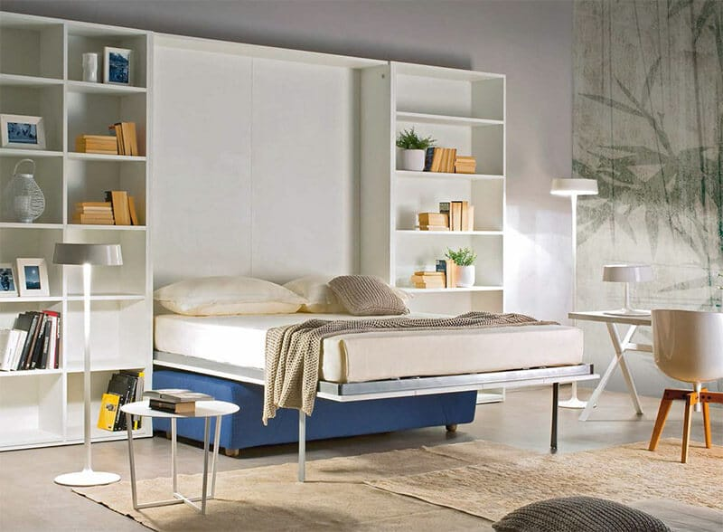 letto-a-scomparsa-Abacus-sofa-ante-verticali-aperto-1