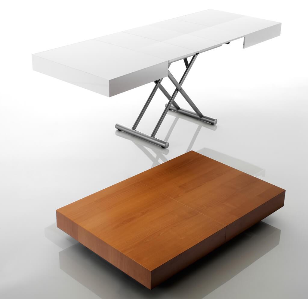 Tavolino Basso Che Si Trasforma In Tavolo Da Pranzo.Tavolo Trasformabile Allungabile Box