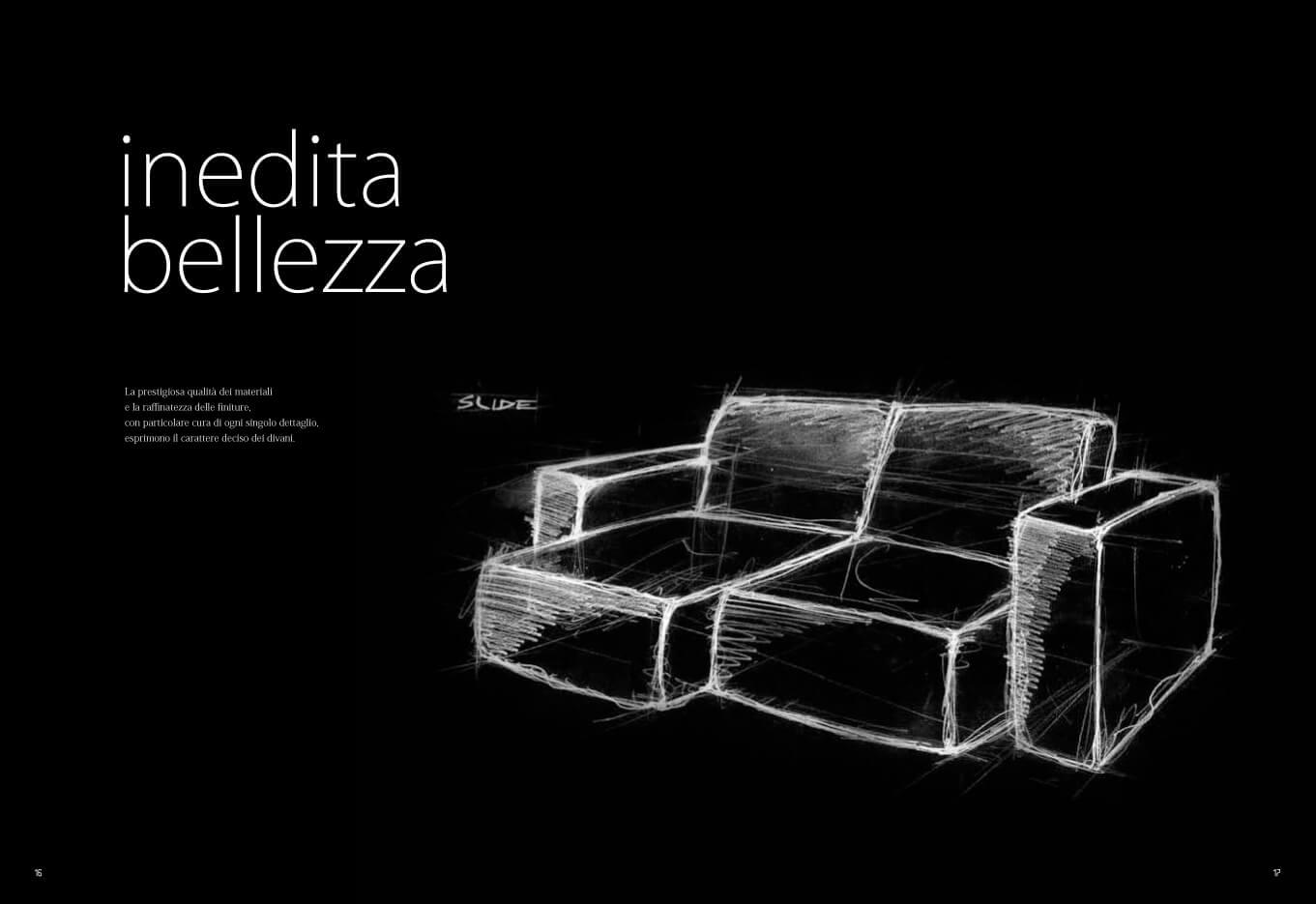 divani con sedute scorrevoli estraibili su misura rivestimento sfoderabile braccioli a scelta schienali fissi o reclinabili lineare penisola o angolare