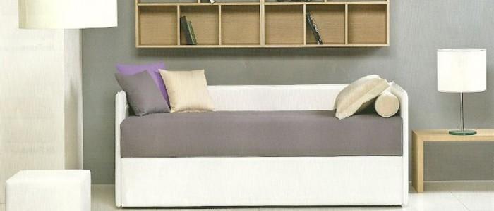 Letto con secondo letto o contenitore modello mercurio for Divano letto singolo arredamento