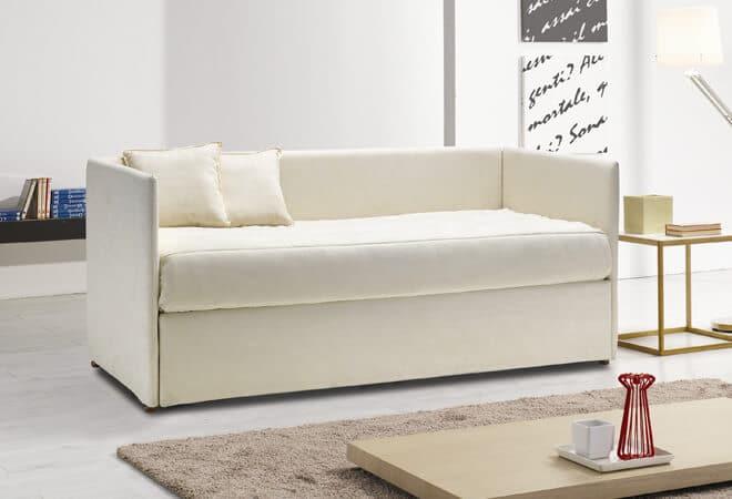 Letto con secondo letto o contenitore modello mercurio divani letto con materasso alto - Divano letto senza materasso ...