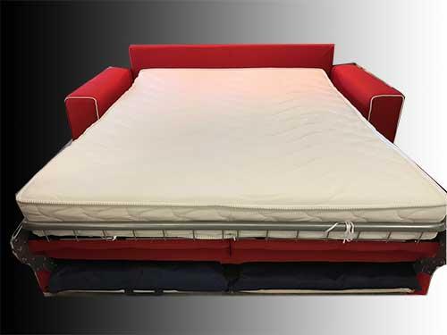 Divano letto modello bramante arredamento in svendita - Divano letto aperto ...