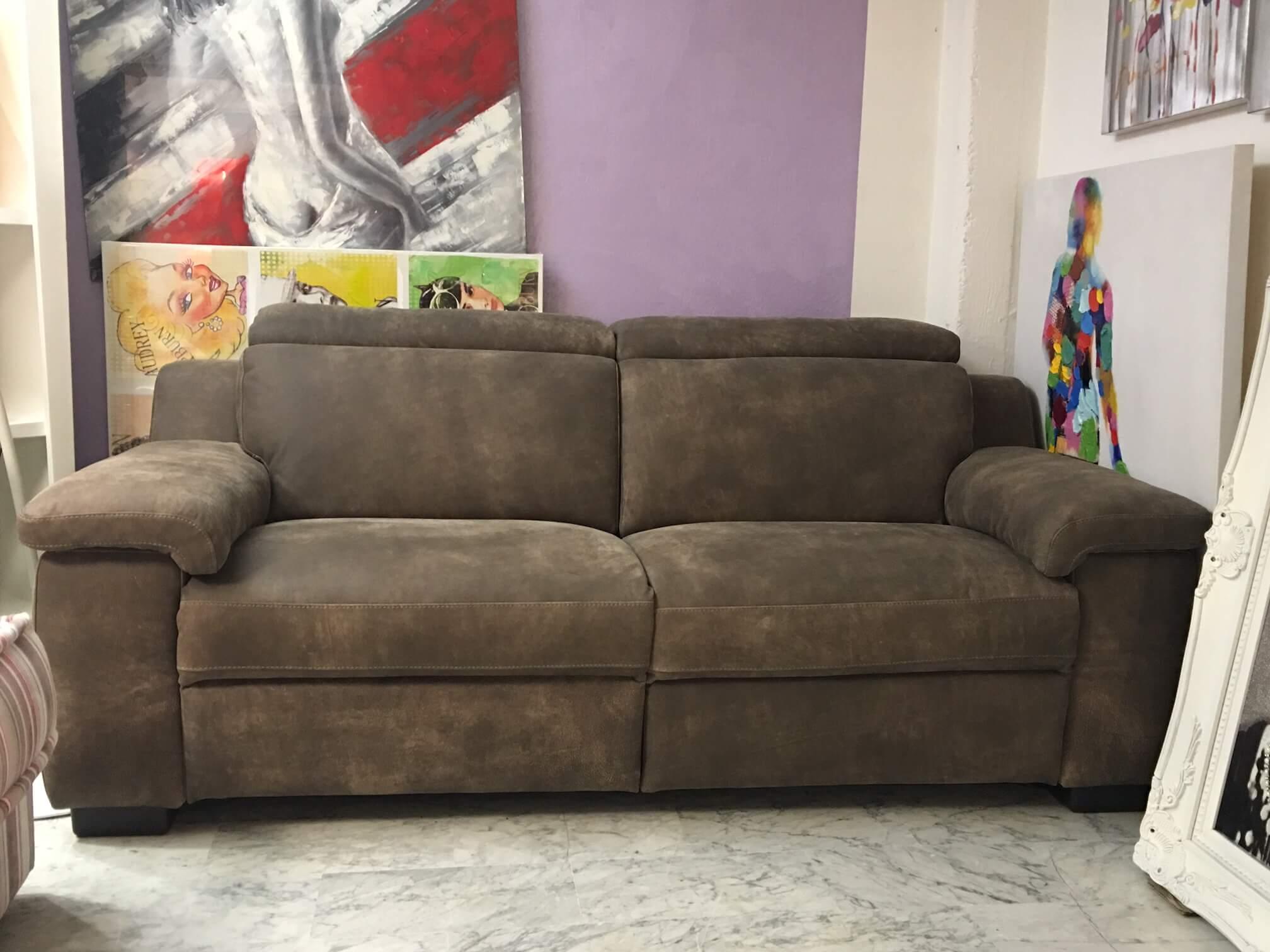 Divano 3 posti con 2 relax motorizzati in pelle modello picasso divani in svendita in svendita - Divano 2 posti relax ...