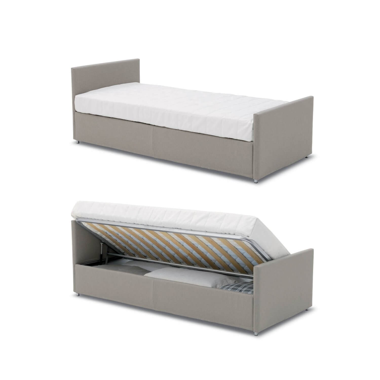 Letto con secondo letto o contenitore modello urano divani letto con materasso h18 arredamento - Conforama letto contenitore ...