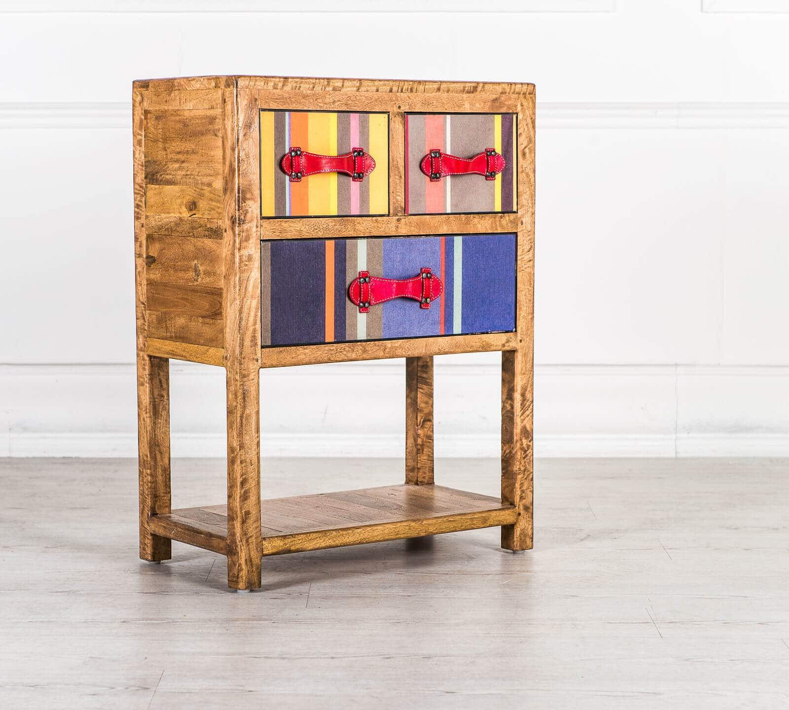 Consolle a tre cassetti modello carna arredamento zona for Consolle colorata