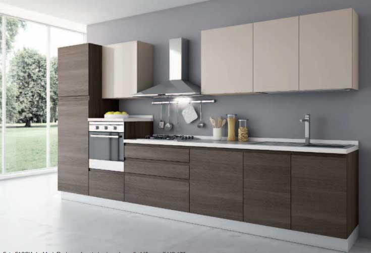 Cucina lineare modello romina offerte cucine e bagni cucine e bagni cucine artigianali - Cucine 3 metri scavolini ...