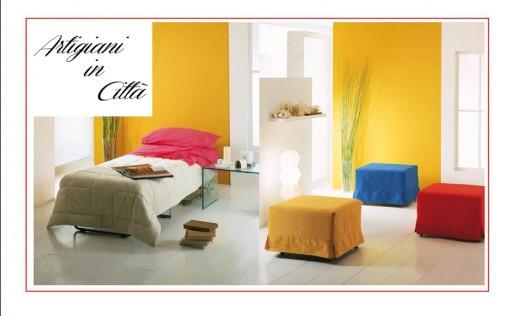 Design innovativo, pouf letto disponibile in diversi colori