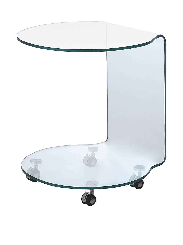 Tavolino in vetro modello rolly arredamento in svendita - Tavolini in vetro ikea ...