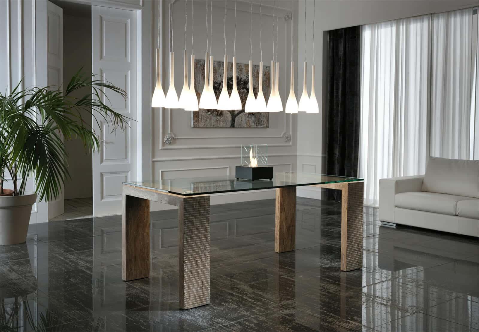 Tavolo modello miti complementi e illuminazione tavoli - Lampadario tavolo ...
