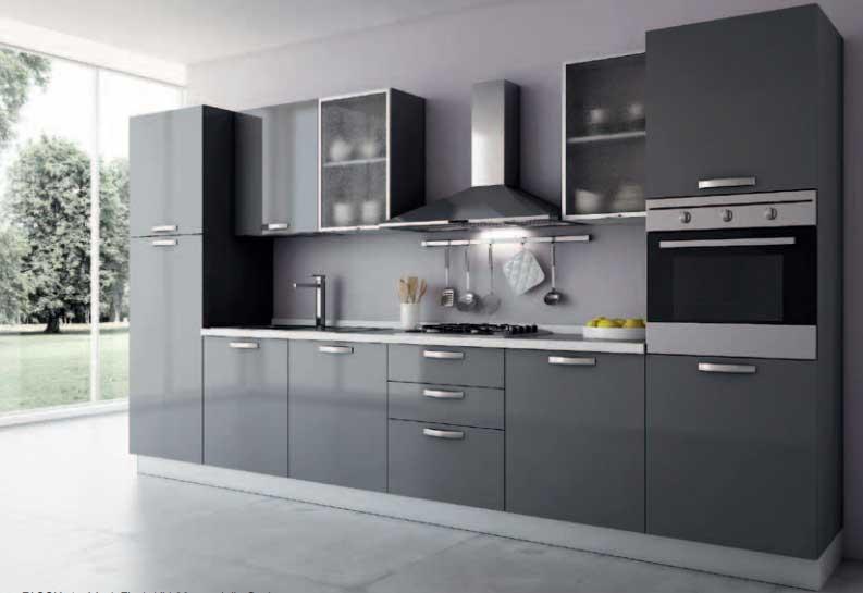 Cucina lineare modello rosa offerte cucine e bagni cucine - Cocina rosa ...