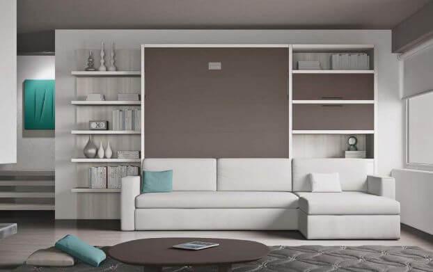 Letto a scomparsa con divano living in offerta outlet a milano e provincia - Mobili letto a scomparsa prezzi ...