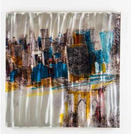 Dipinto Modello City Con Pioggia