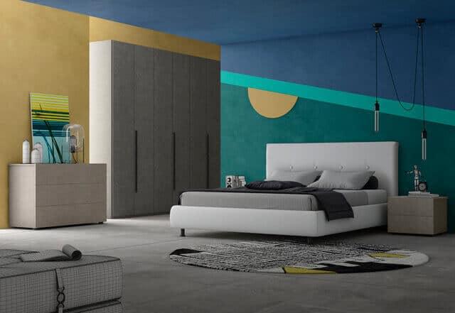 Camera da letto completa in promozione mod londra promo zona notte letti mobili da notte - Camera da letto completa ...