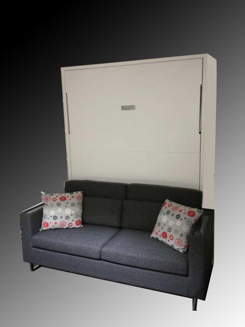 Letto a scomparsa modello living con opzione divano e for Letto a scomparsa con divano