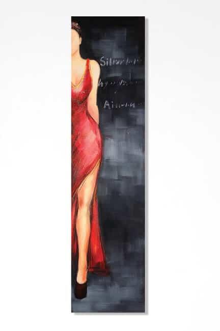 Quadro dipinto a mano dove rappresenta una donna a meta