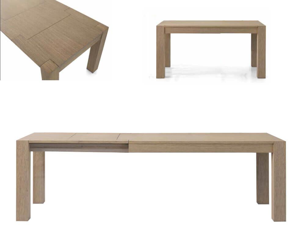 Tavolo allungabile in rovere in svendita da esposizione for Tavolo allungabile e sedie