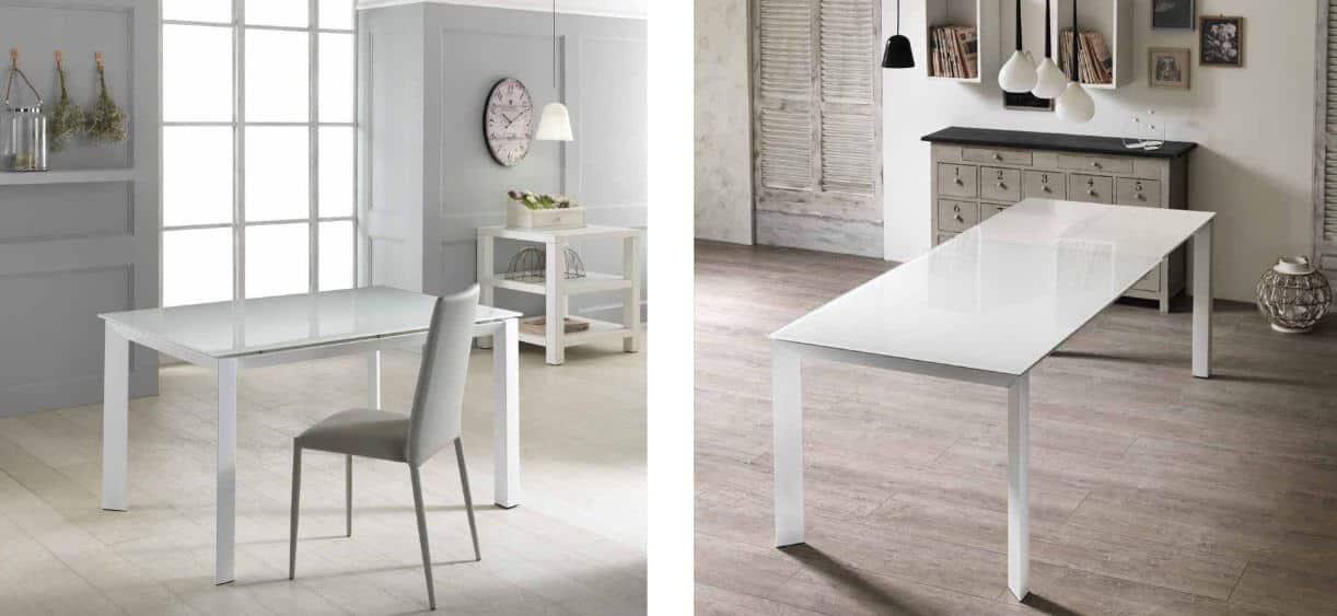 Tavolo allungabile modello sandra arredamento zona giorno - Tavolo account bianco ...