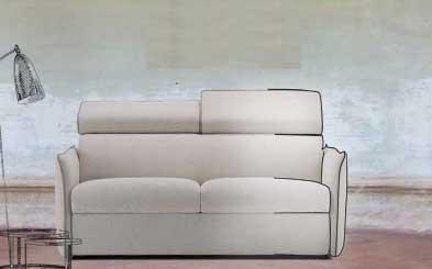 Divano letto o fisso modello gioia air pop divani letto con materasso alto arredamento zona - Divano letto senza materasso ...