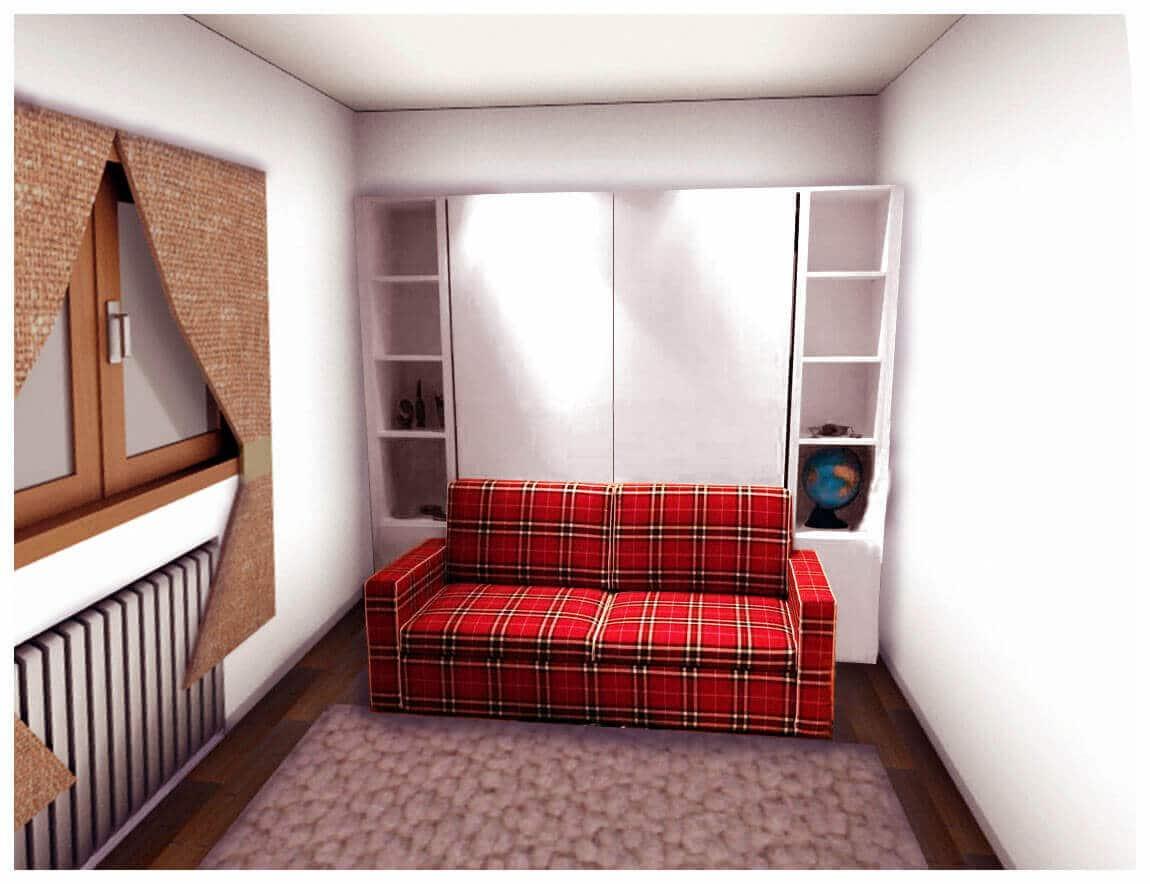 Mobile letto a scomparsa con divano Modello Living 2.0 Promo ...