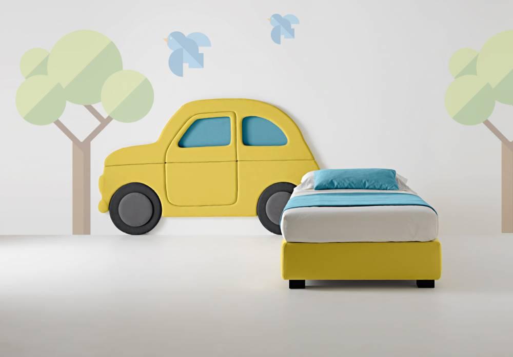 Testata per bambini linea junior macchina arredamento zona - Letto bambino macchina ...
