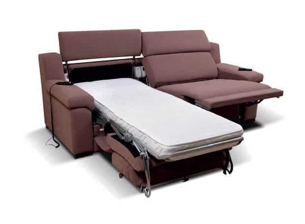 Divano letto gemellare doppio relax motorizzato scontato for Letto divano singolo