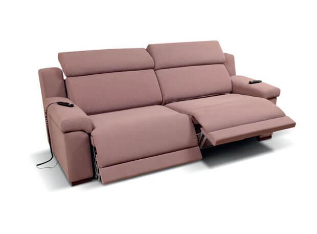 Divano letto gemellare doppio relax motorizzato scontato for Divano elettrico