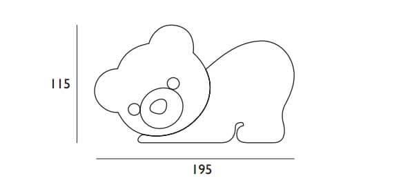 Testata Per Bambini Linea Junior Orso personalizzabile scheda tecnica misure