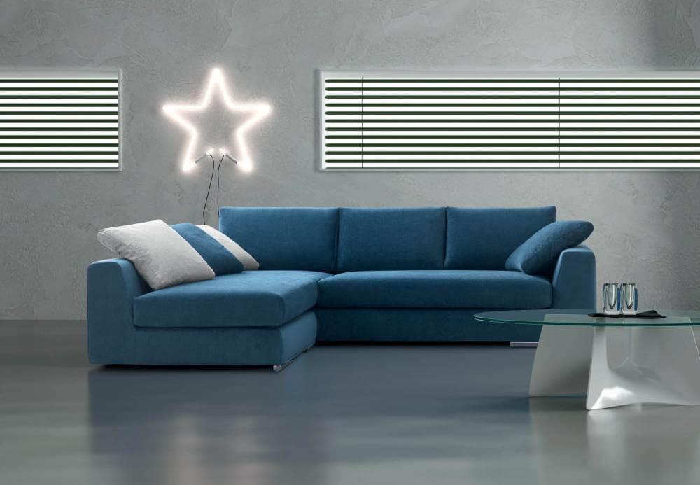 Divano fisso modello atene zona giorno divani e poltrone divani fissi - Copridivano angolare con cuscini fissi ...