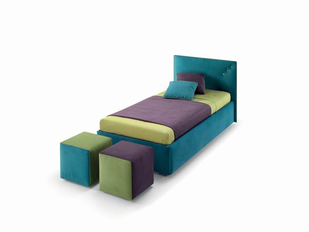 Letto con secondo letto estraibile modello pan arredamento zona notte letti imbottiti - Letto con secondo letto estraibile ...